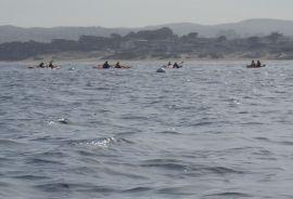Kayak in Chop by CM Parsons