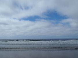 Clouds receding