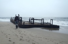 Barge on the Beach by CM Parsons